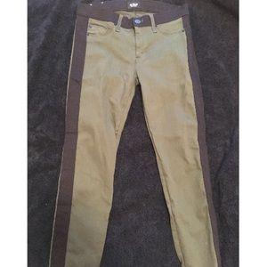 Olive and black Hudson leeloo super skinny jeans